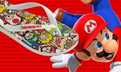 A grife Havaianas lançou em sua coleção modelos de chinelos tematizados com o game do encanador mais querido do mundo dos games.