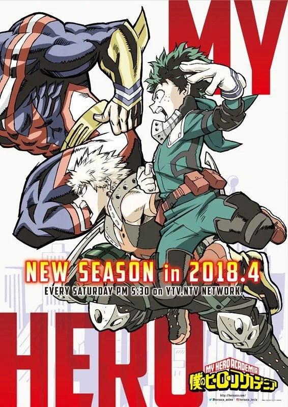 Terceira temporada de My Hero Academia ganha data de estreia.