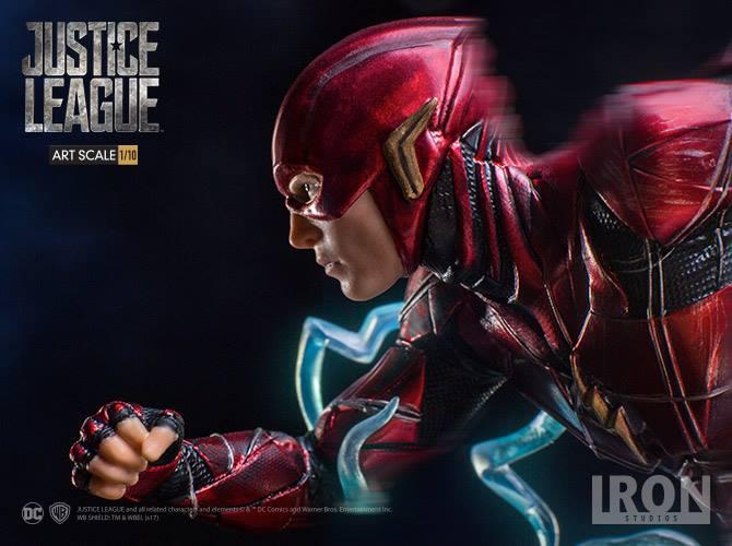 Iron Studios lança figure surpreendente do The Flash de Liga da Justiça
