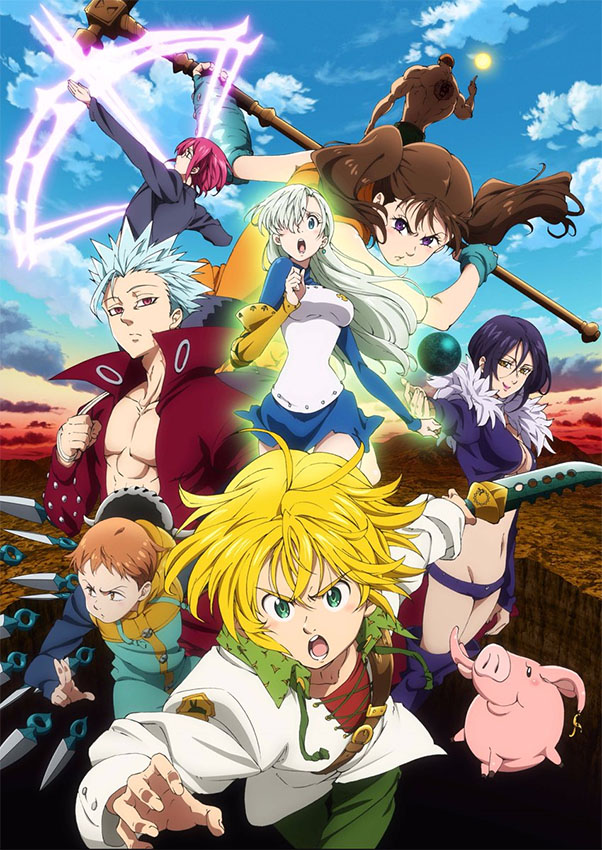 A 2ª temporada de The Seven Deadly Sins (Nanatsu no Taizai) terá 24 episódios e chegará na Netflix em fevereiro.