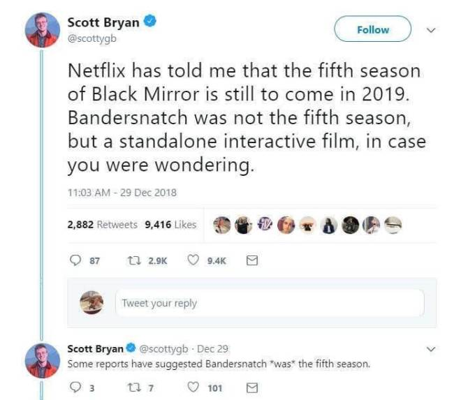 Black Mirror   5ª temporada é confirmada após lançamento de Bandersnatch