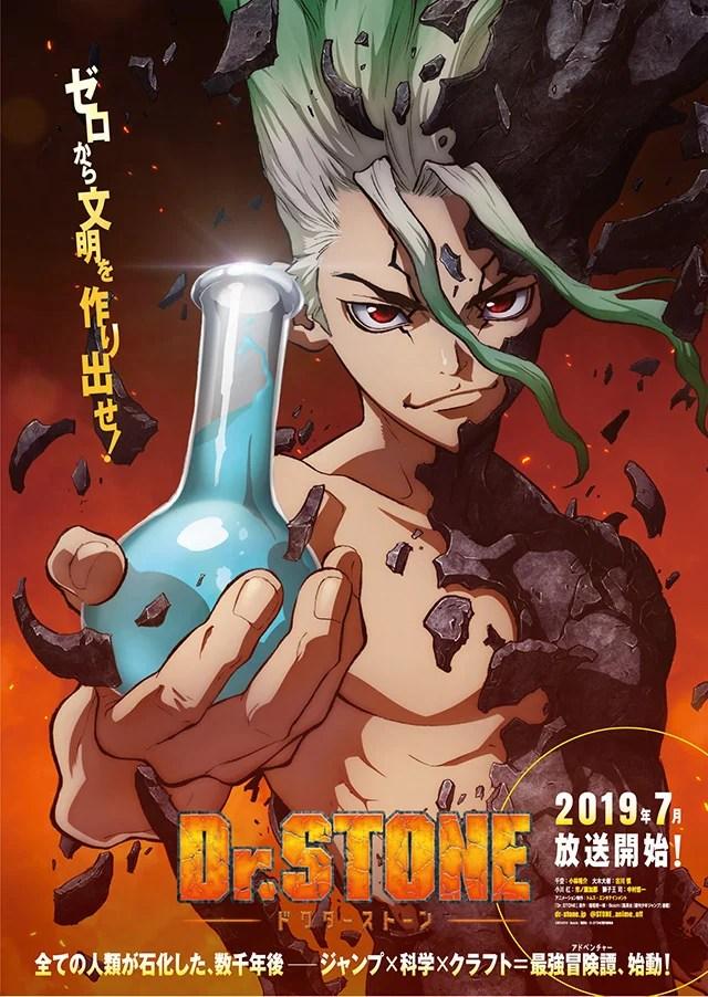 Dr. Stone   Anime ganha 1º poster e design dos personagens é revelado