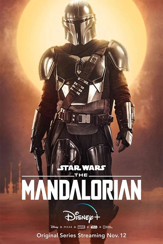 Poster da série The Mandalorian