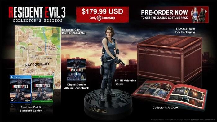 Resident Evil 3 Collector's Edition contará com estatueta de Jill Valentine