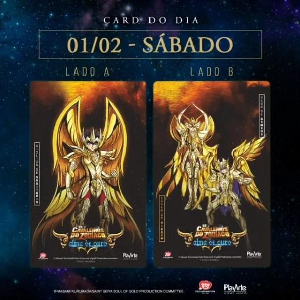 Cavaleiros do Zodíaco: Alma de Ouro | Confira detalhes dos cards colecionáveis do evento da PlayArte