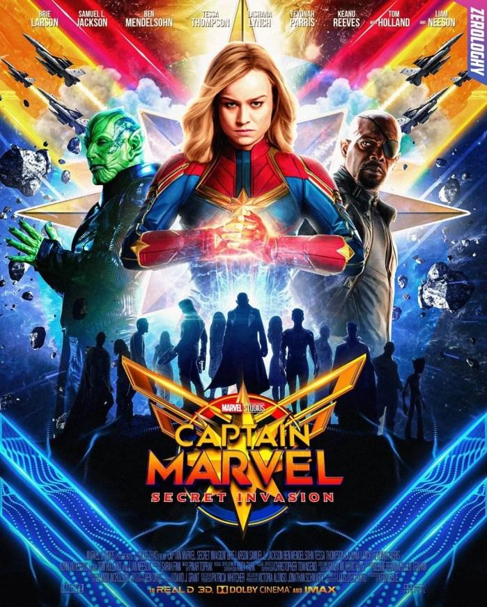 Capitã Marvel 2 ganha incrível poster feito por fã