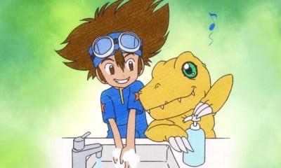 Digimon Adventure | Personagens aparecem em campanha contra o Covid-19