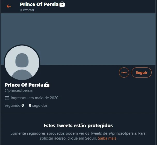 Perfil oficial de Prince of Persia no Twitter reacende as possibilidades do retorno da franquia