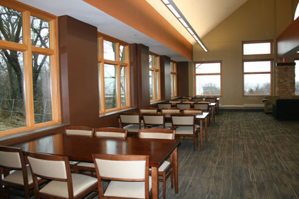 Study space on the northwest corner of 4th floor.