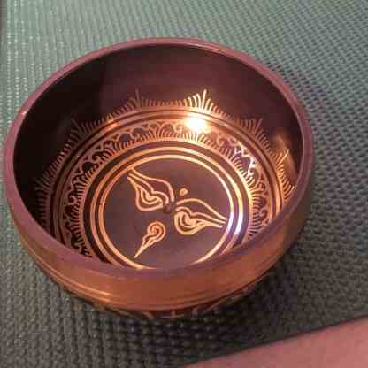 Plum Blue Tibetan singing bowl