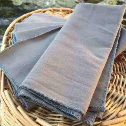 Grey Bamboo Facecloths Set