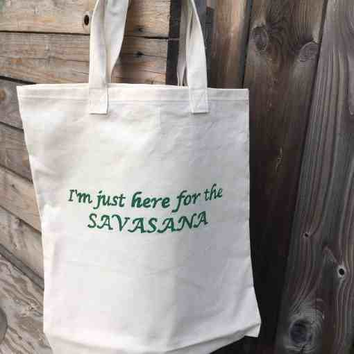 Made in parry sound Canada hemp yoga tote bag