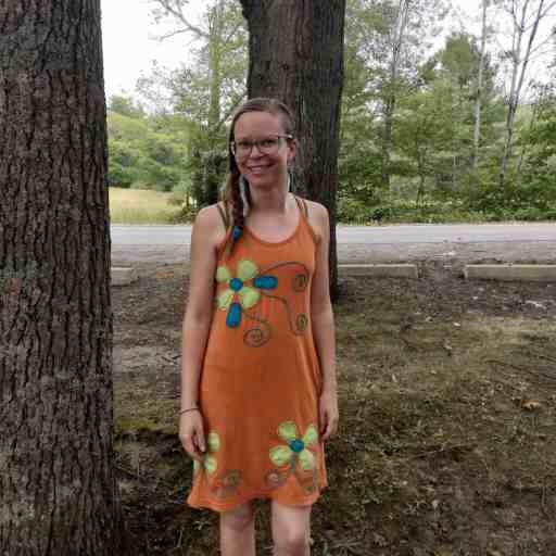 fair trade patchwork flower dress