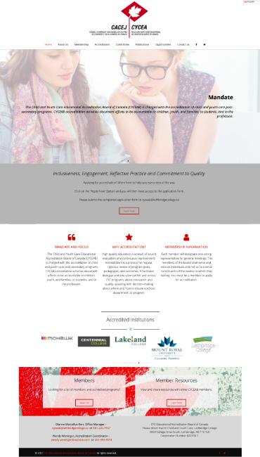 Bi-Lingual Accreditation Board Site with Member Area