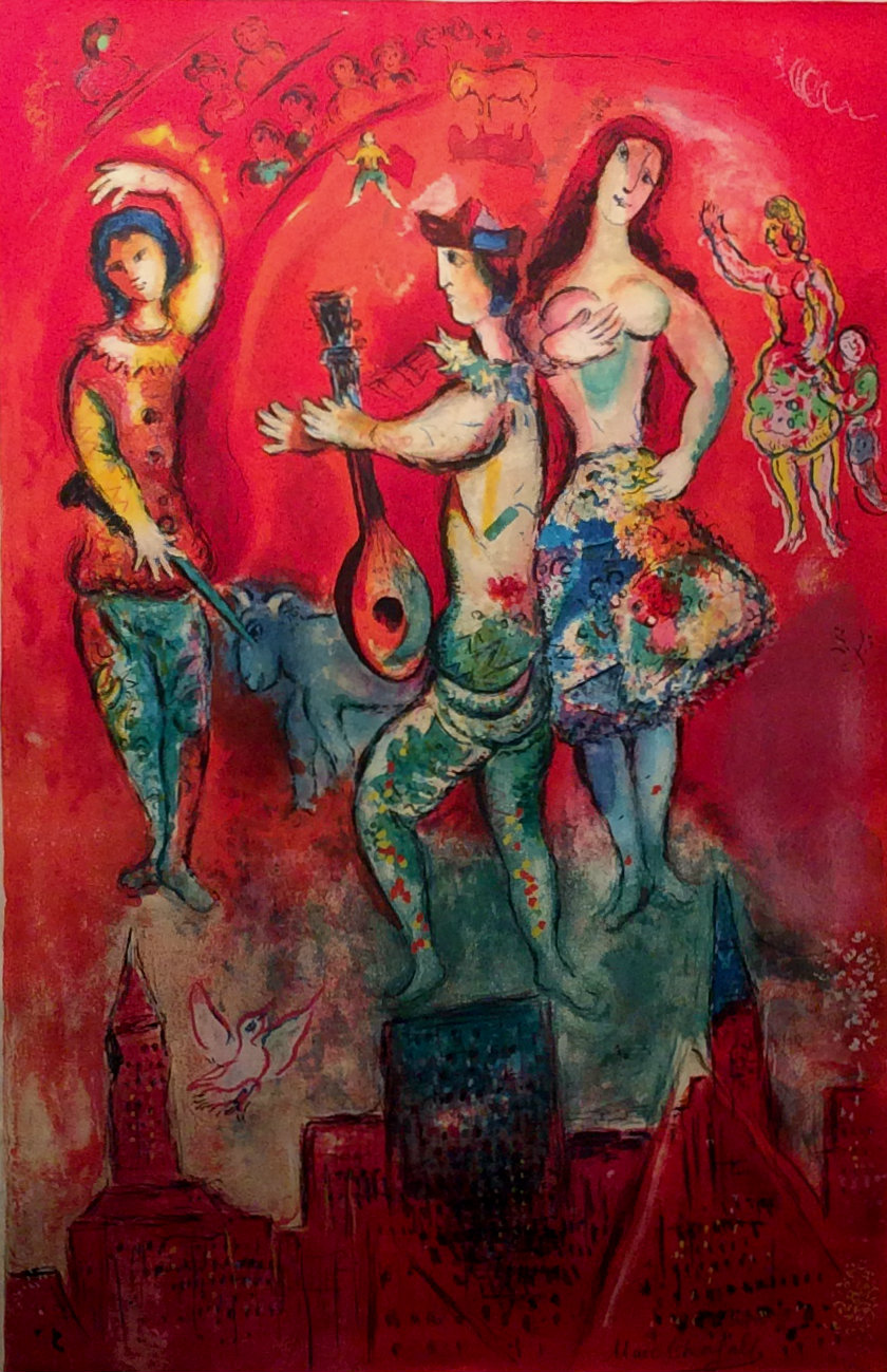 Carmen, 1966 by Marc Chagall (Russia-France, 1887-1985)