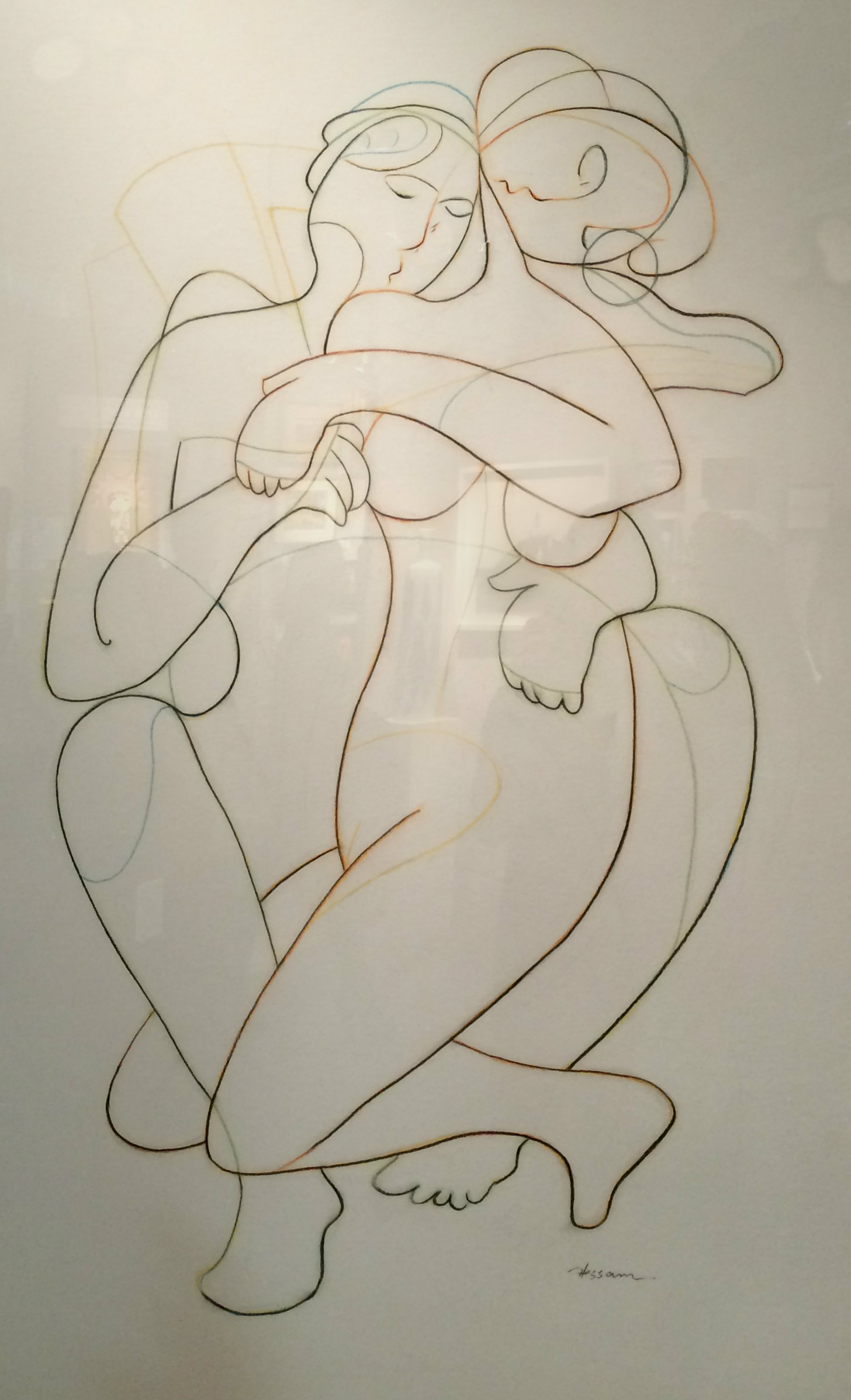 Drawing #47 by Hessam Abrishami from the ABRA Gallery