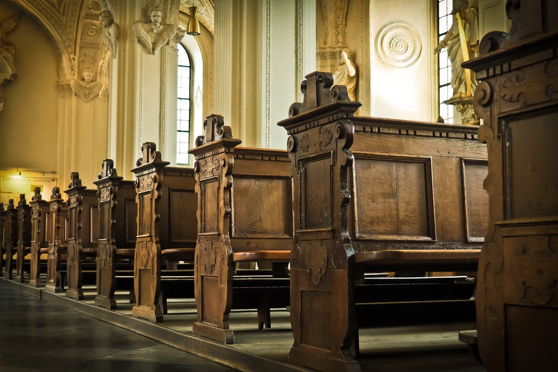 church-bank-wood-benches-161060