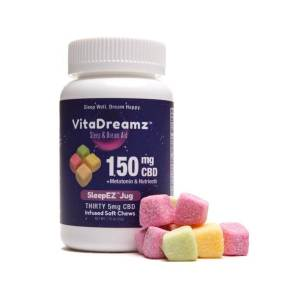 EDIBLE  VITADREAMZ SleepEZ Jug 150mg CBD 30 Soft Chews – 5mg each