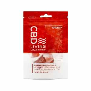 CBD Living Lozenges Bag Cherry 100mg