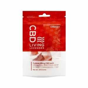 CBD Living Lozenges Bag Cherry 100mg