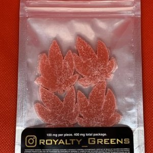 ROYALTY GREENS Gummies – Strawberry 400mg