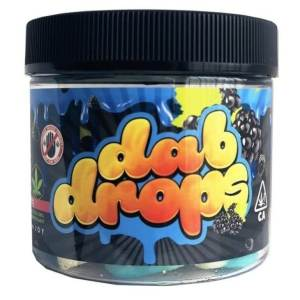 DAB DROPS -300MG BLUE RASPBERRY CANNABIS INFUSED GUMMY
