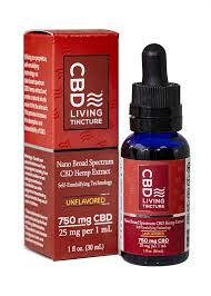 CBD-Living 750mg Nano CBD Tincture – CBD Oil Drops