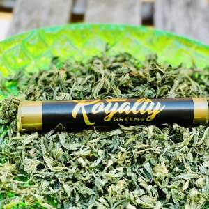 ROYALTY GREENS | PREMIUM SATIVA 1 GRAM PRE-ROLL CONES IN WAX AND WRAPPED WITH GOLDEN KIEF