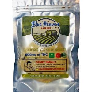 BLUE HEAVEN FARMS ORGANIC 1000MG CHOCOLATE CHIP COOKIE