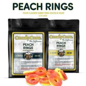 CANDY CARE 400MG INDICA FRUIT FLAVORED PEACH RINGS