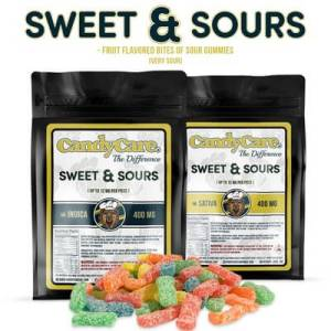 CANDY CARE 400MG SATIVA FRUIT FLAVORED SWEET & SOUR