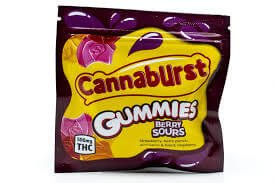 CANNABURST 500MG BERRY SOURS GUMMIES CANNABIS INFUSED