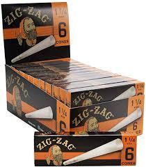 ZIG-ZAG 1 1/4 ULTRA THIN 6 PRE ROLLED PAPER CONES