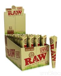 RAW ORGANIC 3-PACK KING SIZE PRE-ROLLED CONES