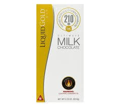 LIQUID GOLD 210MG CANNABIS INFUSED MILK CHOCOLATE BAR