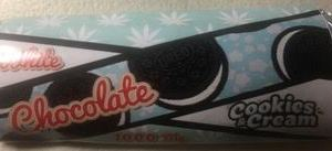 FUEGO FLAVOR COOKIES & CREAM 1000MG WHITE CHOCOLATE BAR