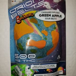 DEVOUR ORION 500MG CANNIBIS INFUSED GREEN APPLE SOUR BELTS