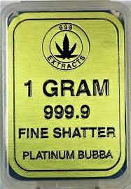 999 EXTRACTS HYBRID 1 GRAM PLATINUM BUBBA FINE SHATTER