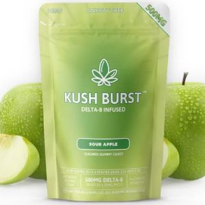 KUSH BURST 500MG DELTA 8 SOUR APPLE GUMMIES