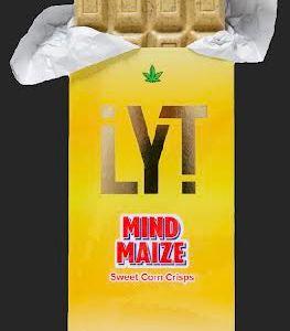 LYT MIND MAIZE SWEET CORN CRISPS 500MG THC 100% ORGANIC ALL NATURAL PREMIUM BELGIAN CHOCOLATE BAR