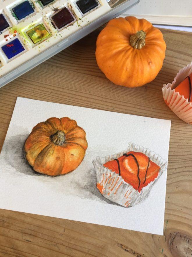 Painting orange things