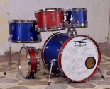 These custom drums, made for a cool drummer named Kahheetah in a band called The Red And Blues, look like the band's namesake and sound great under her capable hands! 7¾x10, 8¾x13, 10x16, 16x20, 4½x14; plied maple; satin wax.