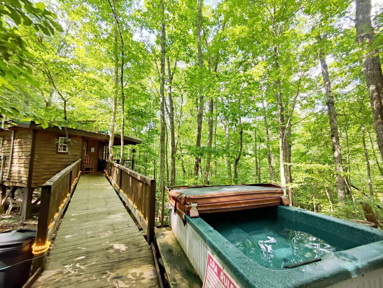 Hummingbird Treehouse Getaway with Hot Tub