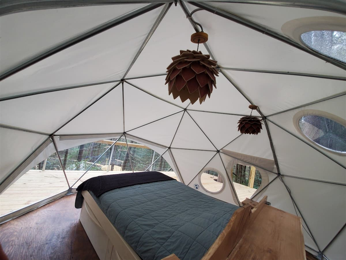 Cloud Dome Treehouse Rental Kentucky Airbnb