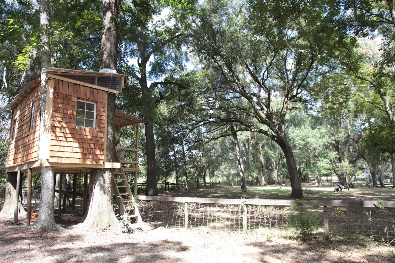 Stunning Farm Themed Treehouse