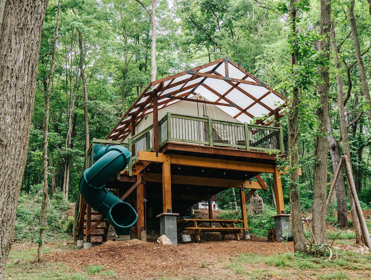 Treehouse Glamping in Pennsylvania Airbnb