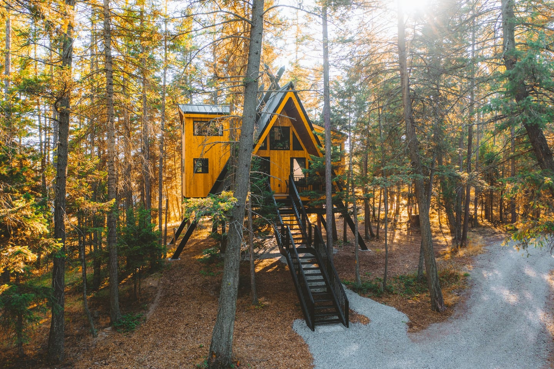 Raven's Nest - treehouse airbnb montana