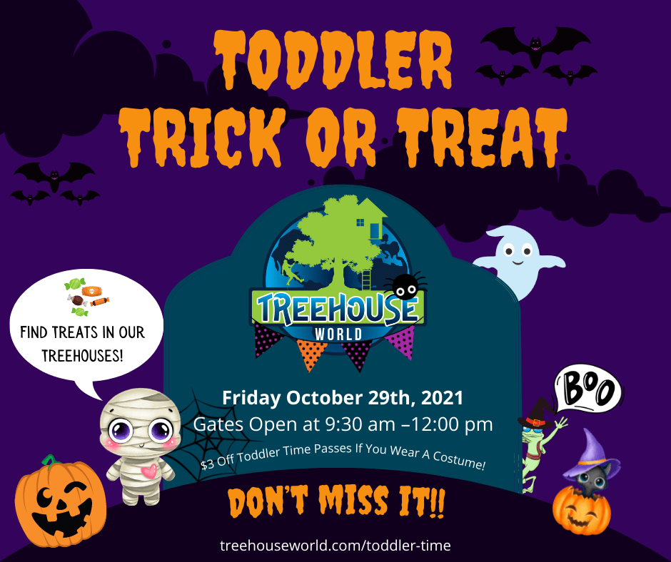 Toddler Time Trick Or Treat - Friday October 29th 2021