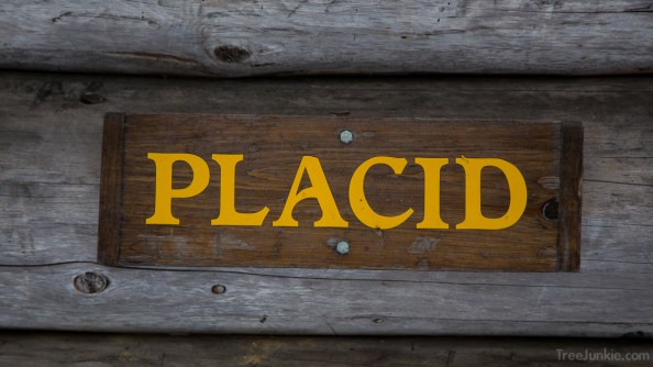 Placid Lean-to Sign