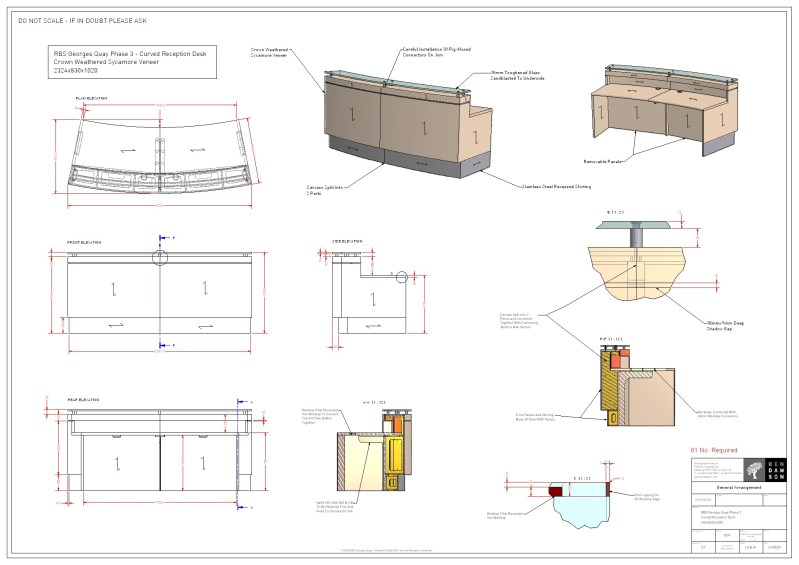 Build Curved Reception Desk Plans DIY Vinyl Shelf Plans